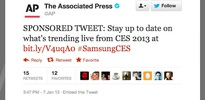 AP'den Samsung tweeti!