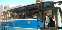 Seyir halindeki otobüs şoförüne uçan tekme