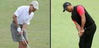 Beraber golf oynadılar