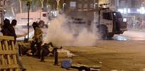 Polise taşlı saldırı