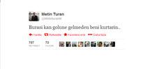 Türk muhabirden Beni kurtarın tweeti