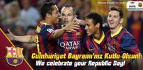 Barcelona'dan 29 Ekim kutlaması