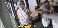 Otobüs şoförüne dayak kamerada