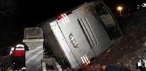 Sivas'ta otobüs devrildi:1 ölü ve 20 yaralı