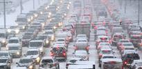 Moskova'da tarihi trafik çilesi