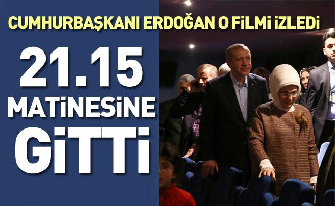 Cumhurbaşkanı Erdoğan ve Emine Erdoğan  Bizim Hikaye filmini izledi