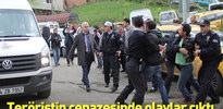 Savcıyı şehit eden teröristin cenazesine tepki