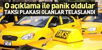 Taksi plakası olanlara kötü haber