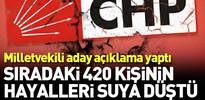 CHP'li isim adaylıktan çekilmekten vazgeçti