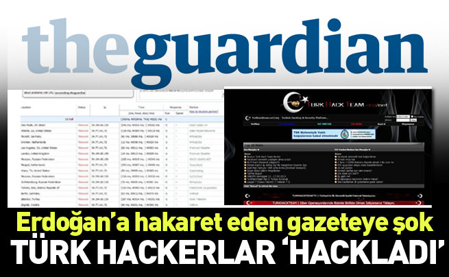 Türk hackerlar The Guardian'ı hackledi