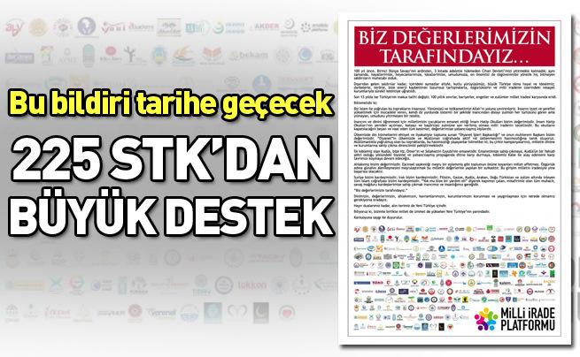 225 STK'dan AK Parti'ye destek ilanı