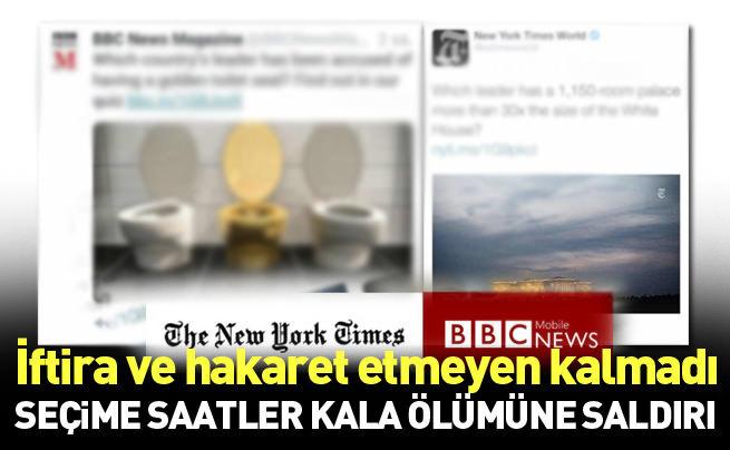 İki medya kuruluşu aynı başlıkla Erdoğan'ı hedef yaptı
