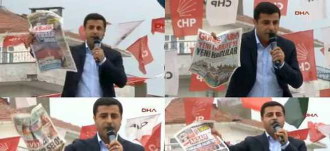 Demirtaş Sabah gazetesini hedef gösterdi