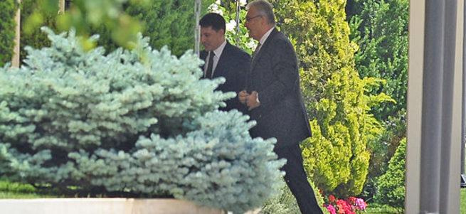 Cumhurbaşkanı Erdoğan, Deniz Baykal'ı kabul ediyor