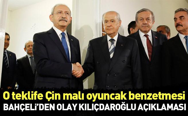 Devlet Bahçeli'den Kılıçdaroğlu'nun teklifine Çin malı ördekli cevap