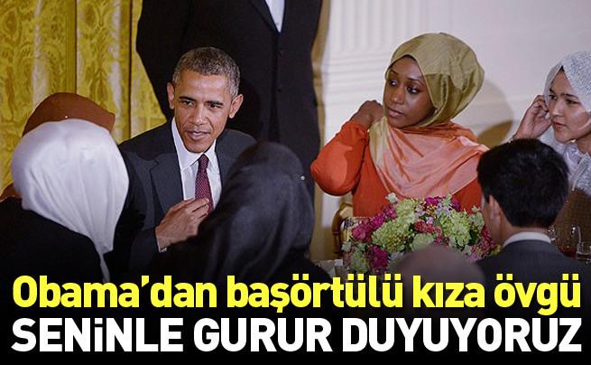Obama'dan başörtülü kıza: Seninle gurur duyuyoruz