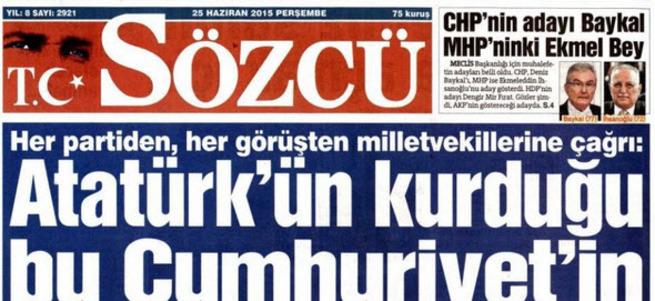 Sözcü gazetesi halkın seçtiği vekilleri hedef göstererek nefret suçu işledi