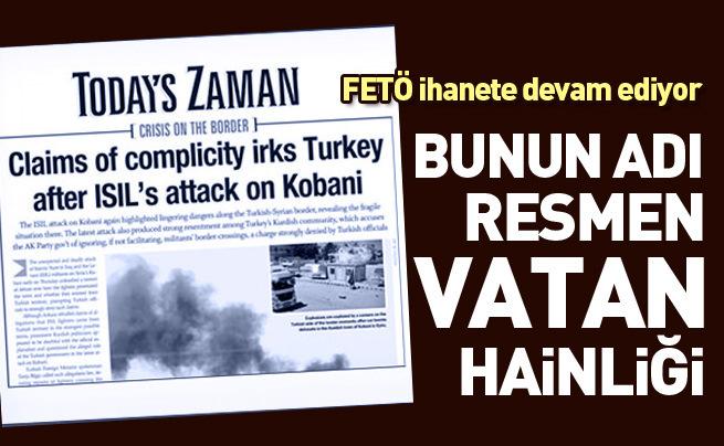 Zaman'ın İngilizce gazetesi Türkiye'yi terörist ülke gibi gösteriyor