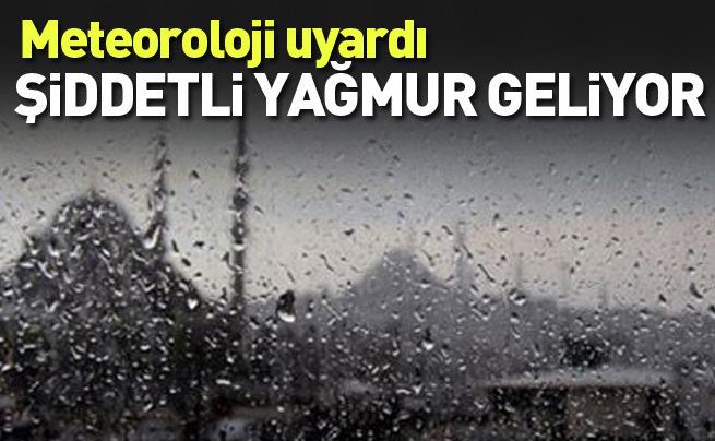 İstanbul için şiddetli yağmur uyarısı!