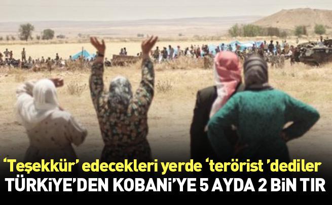 Türkiye'den Kobani'ye 5 ayda 2 bin TIR