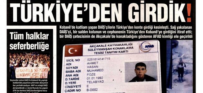 HDP'nin gazetesinden yeni provokasyon