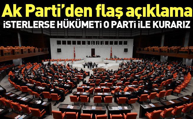 Hükümeti kurmak isterse MHP ile kurarız