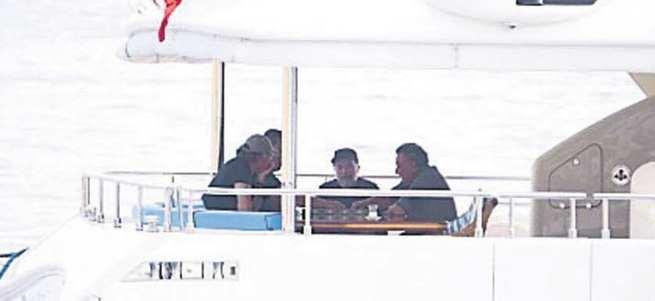 Ahmet Hakan'ın tekne orucu böyle görüntülendi