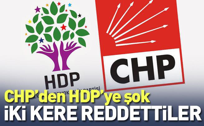 CHP HDP'nin çağrısına iki kere olumsuz yanıt verdi