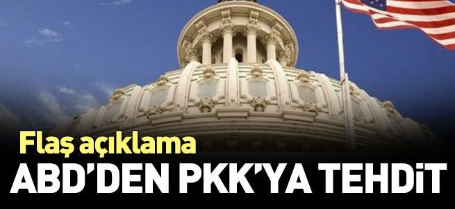 ABD'den PKK'ya: Terörü sonlandırın