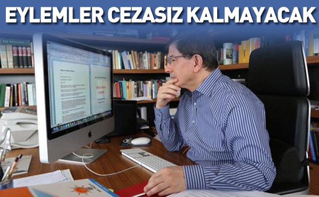Davutoğlu Washington Post'tan mesaj verdi: Eylemler cezasız kalmayacak