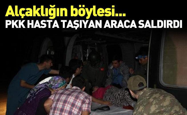 PKK saldırısı altında hamile kadını taşıdılar