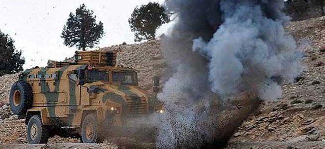 Askeri konvoyun geçişi sırasında patlama