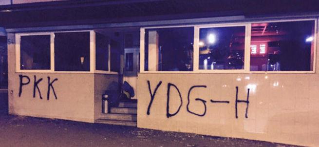 Almanya'da PKK'lılar, cami lokaline saldırdı