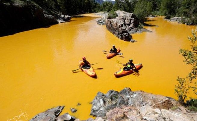 ABD'de çevreciler nehre zehir akıttı