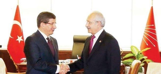 Davutoğlu ve Kılıçdaroğlu görüşmesi başladı