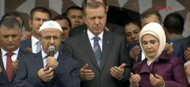 Erdoğan Kıble Dağı Cami açılışına katıldı