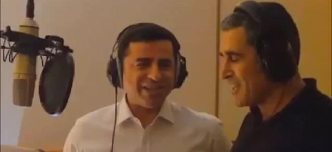 Selahattin Demirtaş'ın düet arkadaşı PKK'ya konser verdi!
