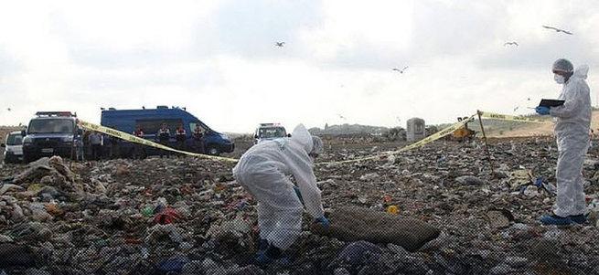 Şehir çöplüğünde ceset parçaları bulundu!