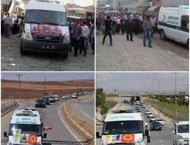 Siirt'te terörist cesetleri belediye aracıyla taşındı
