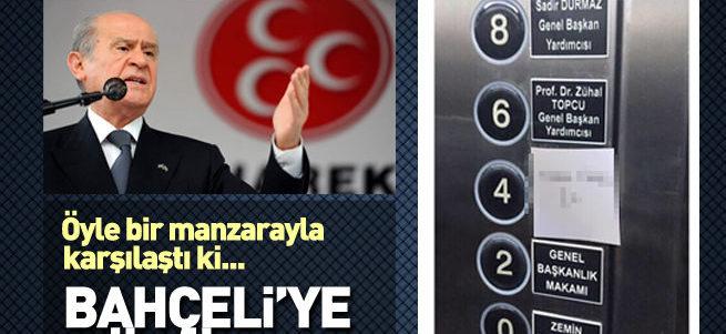 MHP asansöründe Bahçeli'ye büyük şok