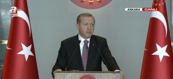 Erdoğan: Razı olacağımız tek çözüm terör örgütünün silah bırakmasıdır