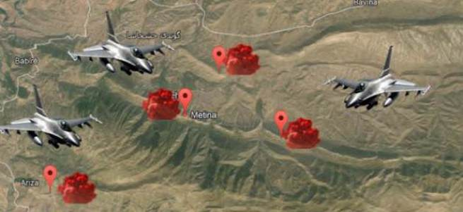 Özel kuvvetler gösterdi, savaş uçakları vurdu