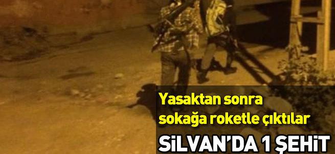 Diyarbakır'da polise roketli saldırı: 1 şehit