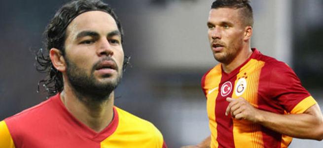 Galatasaray'da şok! Podolski ve Selçuk İnan kavga etti