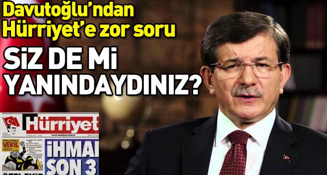 Davutoğlu'ndan Hürriyet'in manşetine sert tepki
