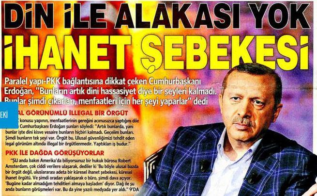Erdoğan: FETÖ bir ihanet şebekesi