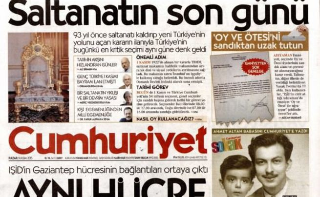 Cumhuriyet'in 'saltanat' manşeti yalan oldu