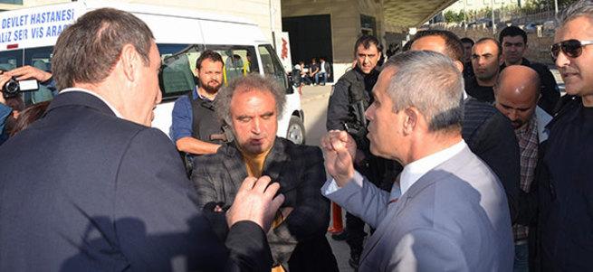 HDP vekiller terörist cenazesinde polisle tartıştı