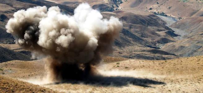 Bağdere Jandarma Karakolu yakınında mayın patlaması