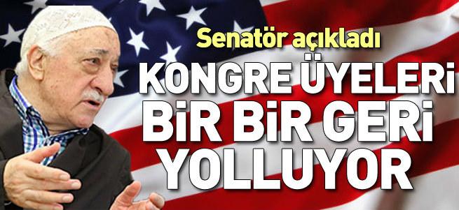 Kongre üyeleri, Gülen'in bağışlarını geri veriyor